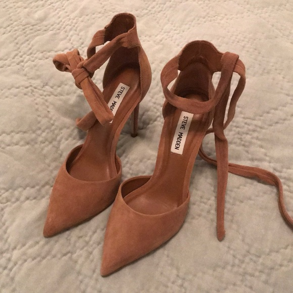 c07aa16a1f2 Steve Madden Suede Ankle Tie Heels